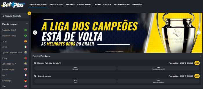 Bet4Plus Mercados de Aposta